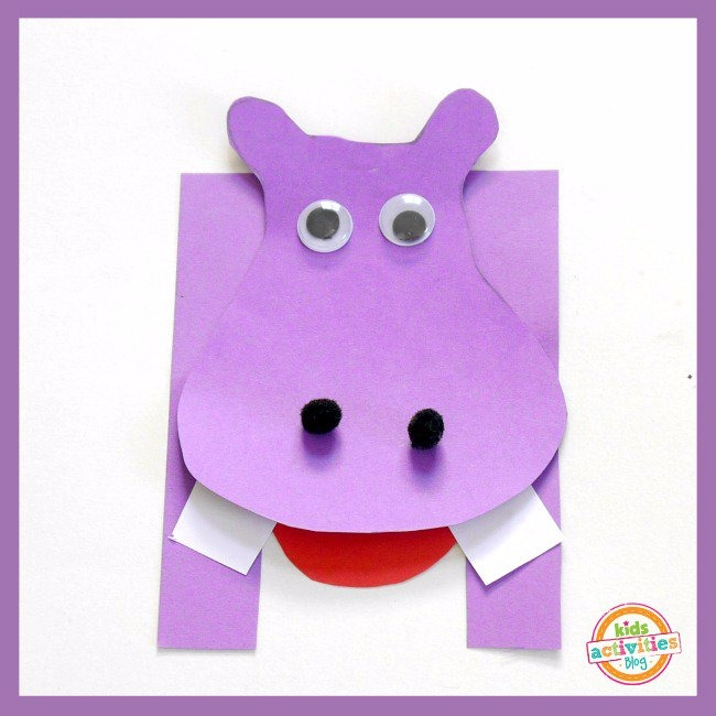 H Is For Hippo Letter H Craft Kids Activities