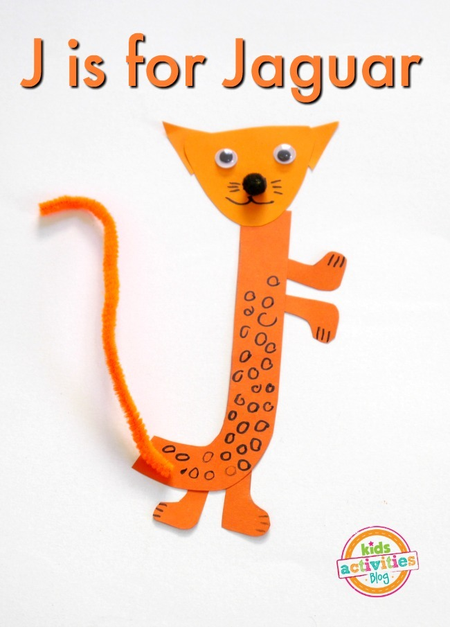 Letter j craft j is for jaguar kids activities for 3 foot cardboard letters