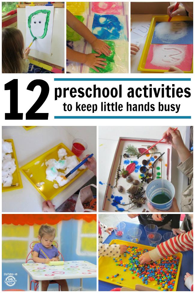 12 PRESCHOOL ACTIVITIES TO KEEP LITTLE HANDS BUSY - Kids ...