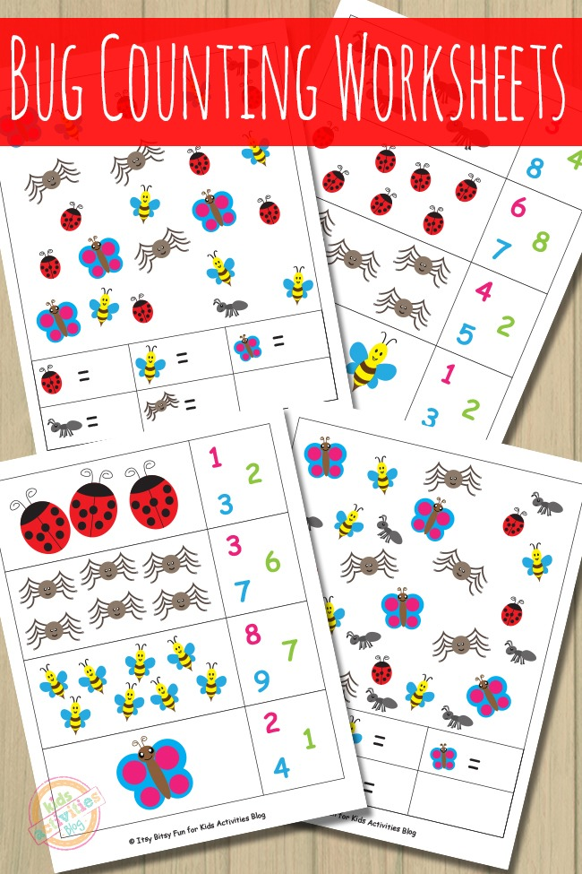 BUG COUNTING WORKSHEETS - Kids Activities