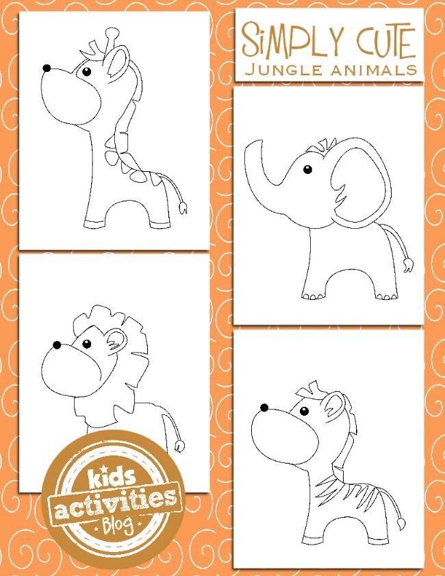 JUNGLE ANIMAL COLORING PAGES FOR KIDS - Kids Activities