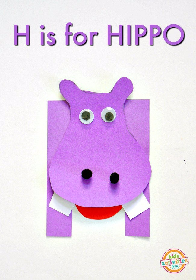 letter h crafts h is for hippo letter h craft activities 2340