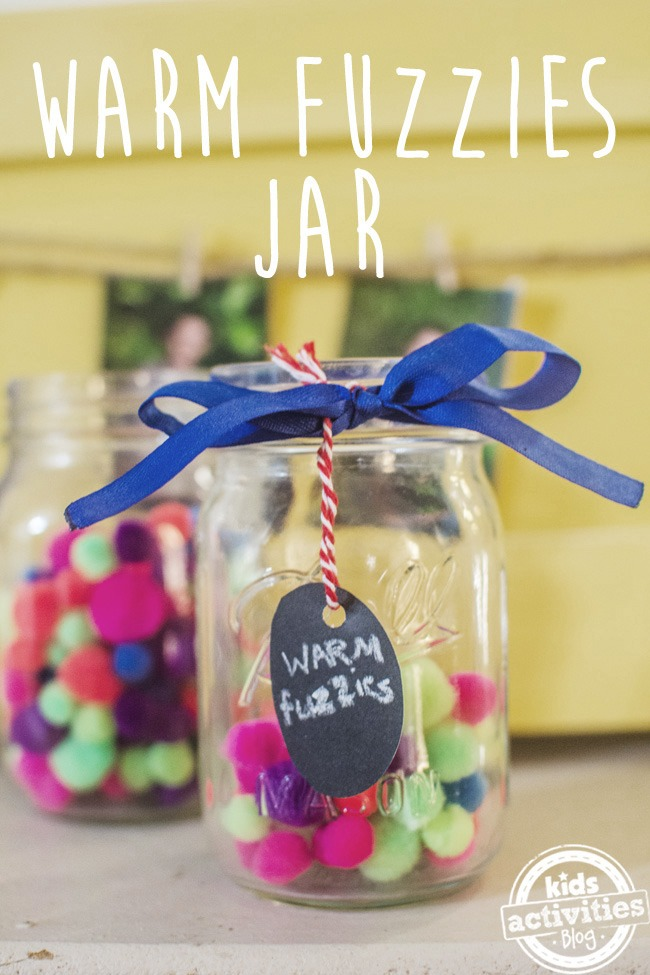warm fuzzies jar  positive reinforcement activity for kids