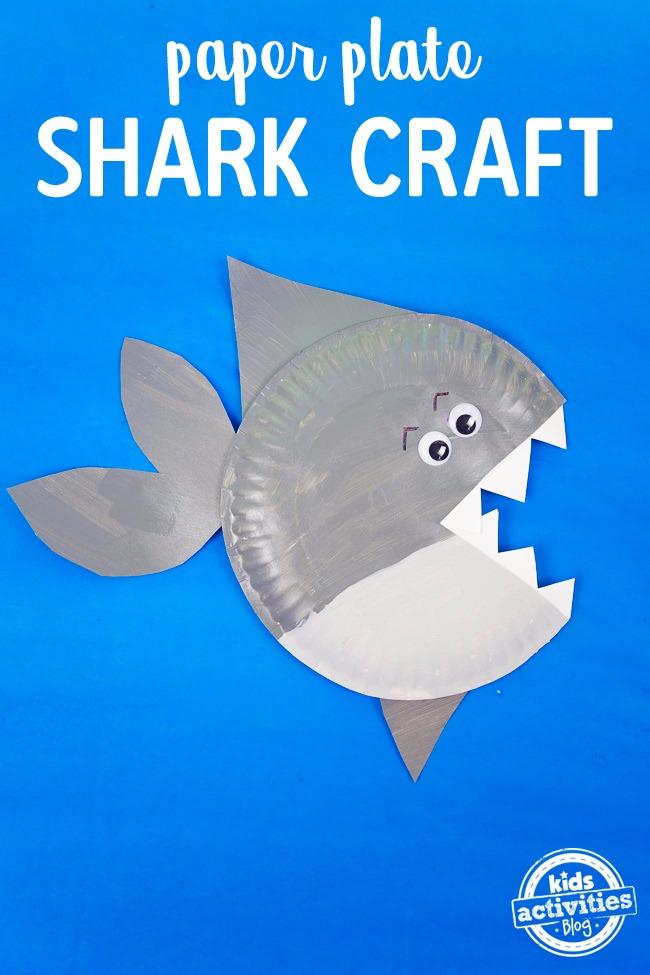 Shark Paper Plate Craft Kids Activities