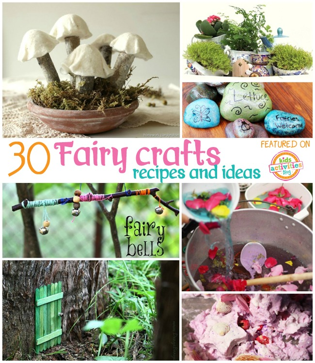30 fairy crafts and recipes for your little one kids for Fairy crafts for toddlers