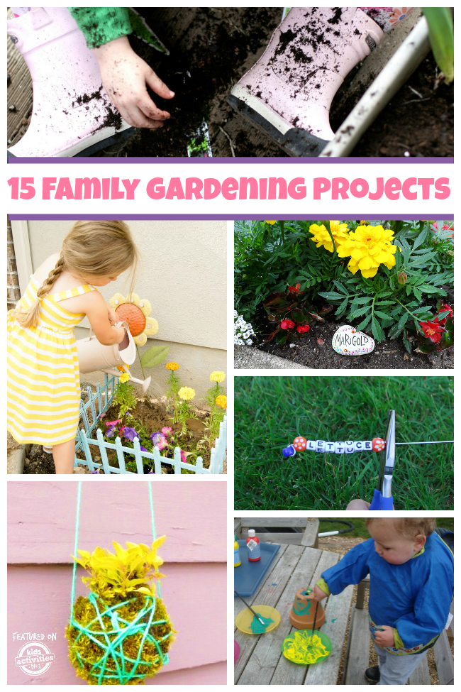 15 fun family gardening projects kids activities for Garden activities for toddlers