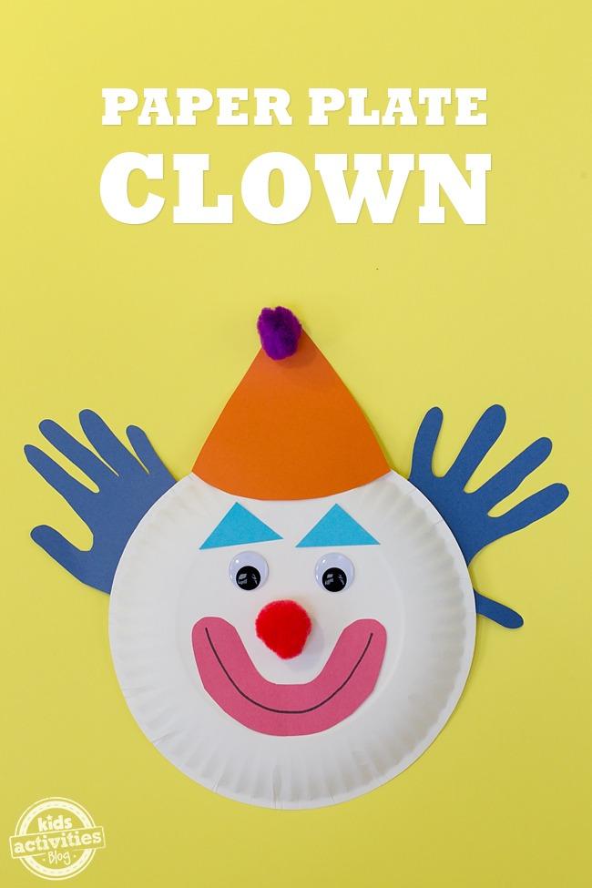 Paper Plate Clowns Kids Activities