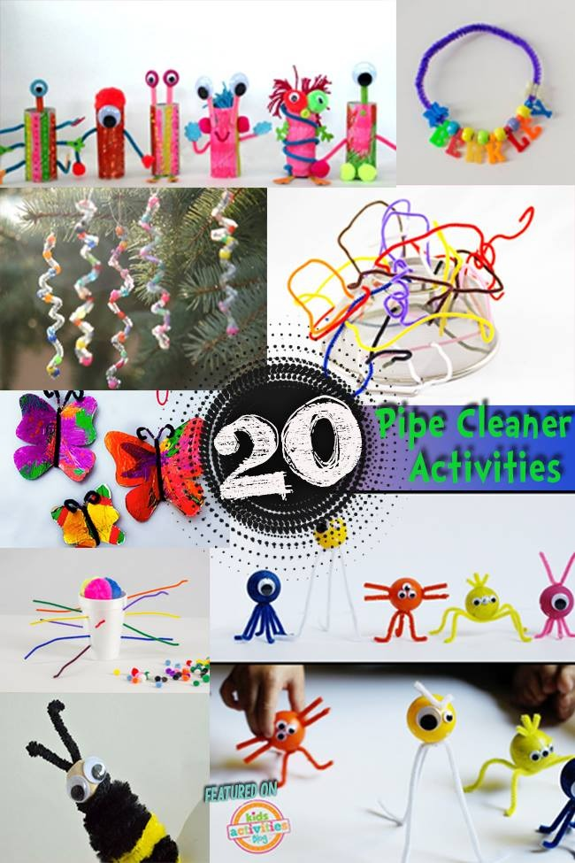 20 TOTALLY AWESOME PIPE CLEANER CRAFTS - Kids Activities
