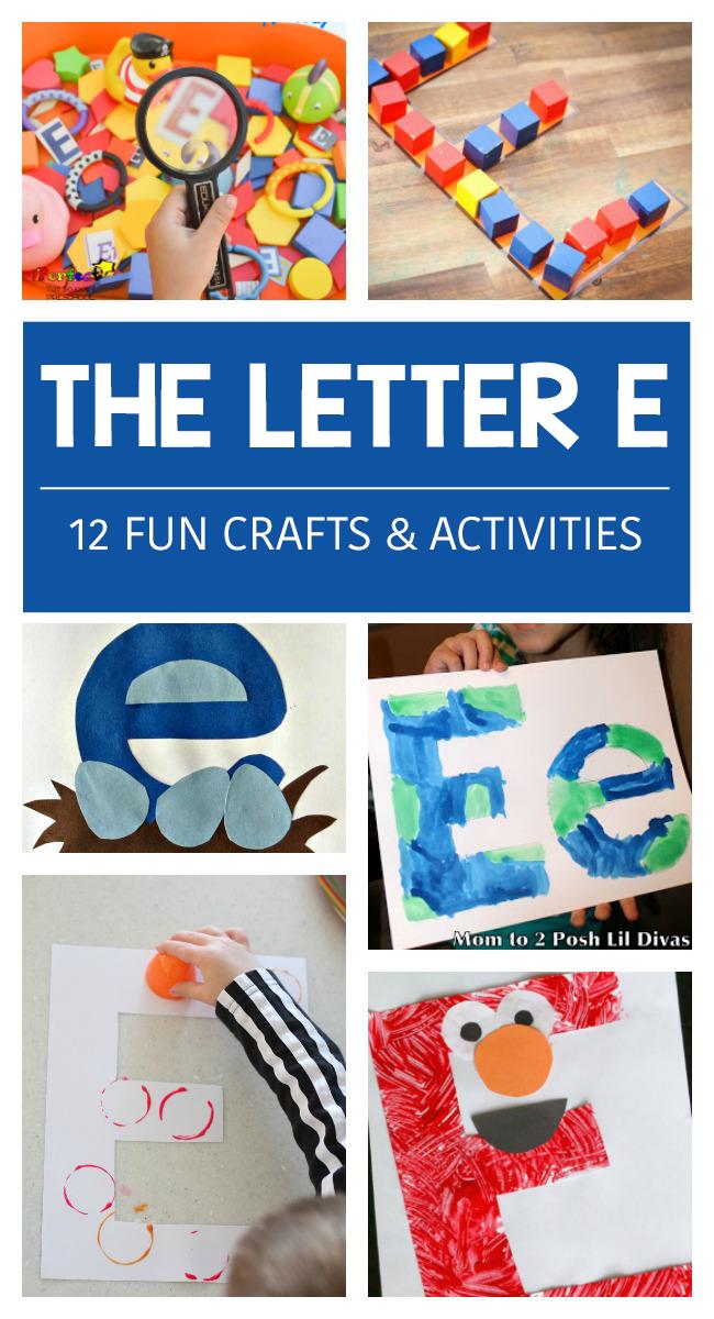 12 LETTER E ACTIVITIES - Kids Activities