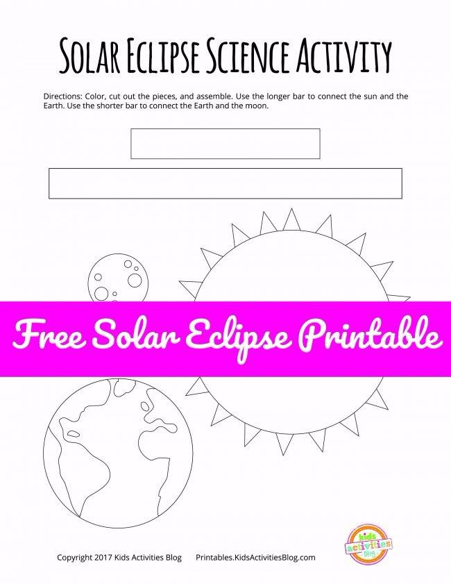 Solar eclipse activities for kids kids activities for Solar energy articles for kids