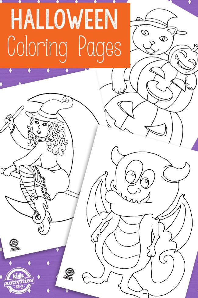 HALLOWEEN COLORING PAGES Kids Activities