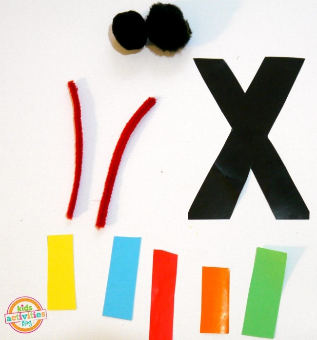X IS FOR XYLOPHONE. LETTER X CRAFT