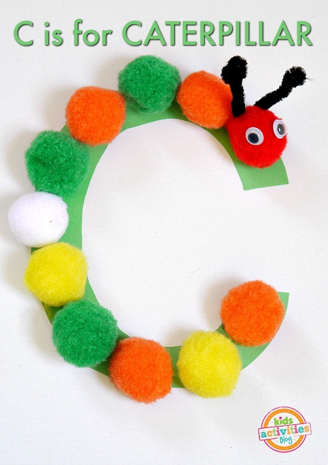 C Is For Caterpillar Letter C Craft Kids Activities