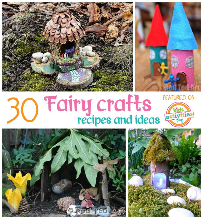 30 fairy crafts and recipes for your little one kids for Craft ideas for fairy gardens