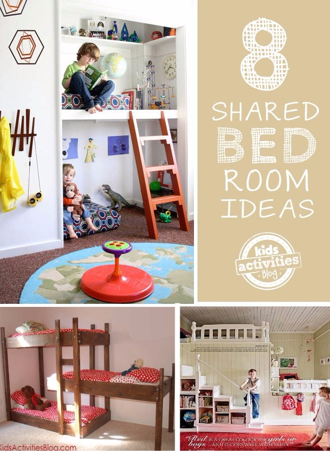 Boy girl shared bedroom ideas kids activities for Shared boy and girl room ideas