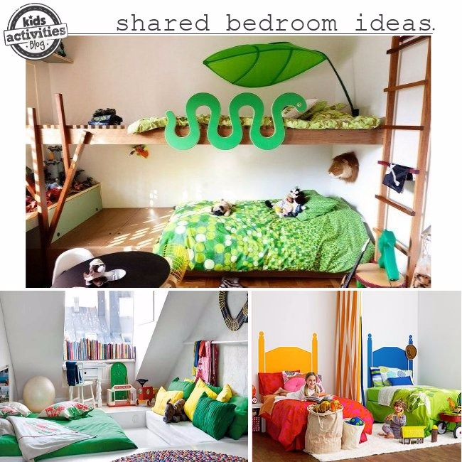 Boy girl shared bedroom ideas kids activities for Unisex bedroom inspiration