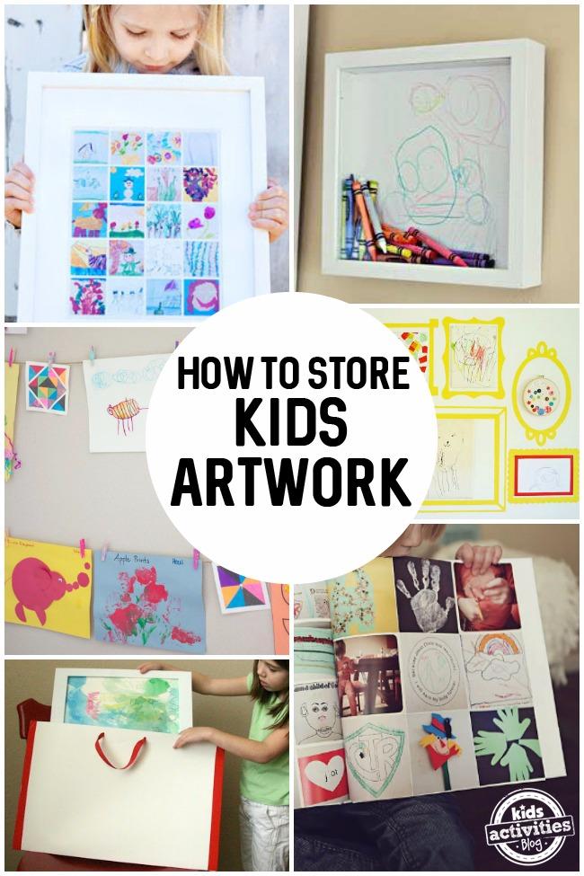 Children S Book Cover Wall Art ~ How to store kids art activities