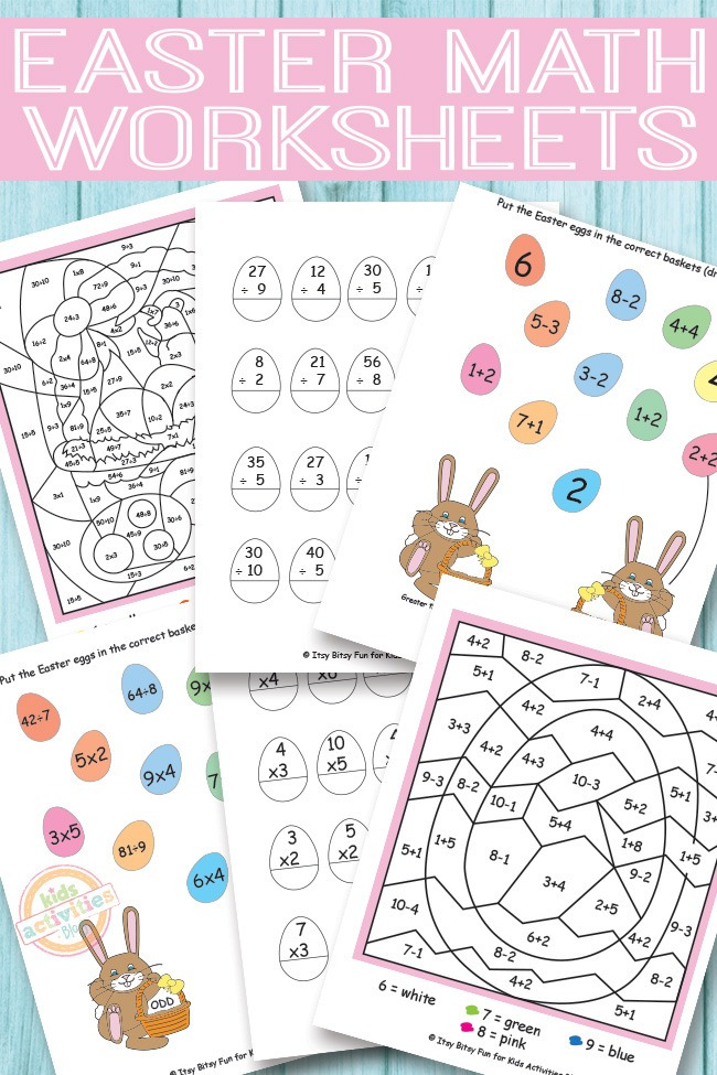 Addition Worksheets easter addition worksheets : EASTER MATH WORKSHEETS {FREE KIDS PRINTABLES} - Kids Activities
