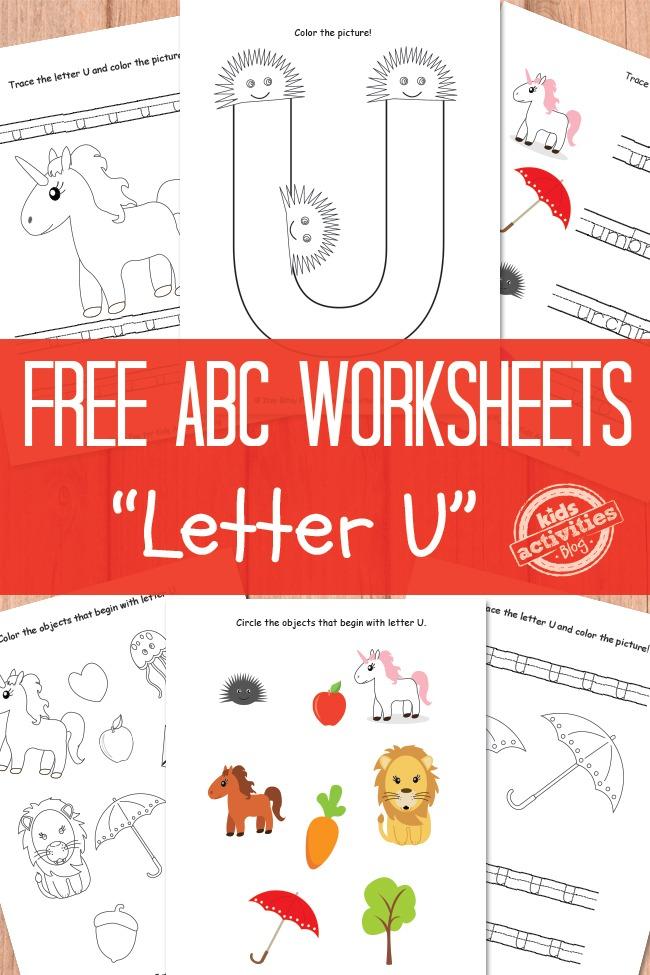 letter u worksheets free kids printable kids activities. Black Bedroom Furniture Sets. Home Design Ideas