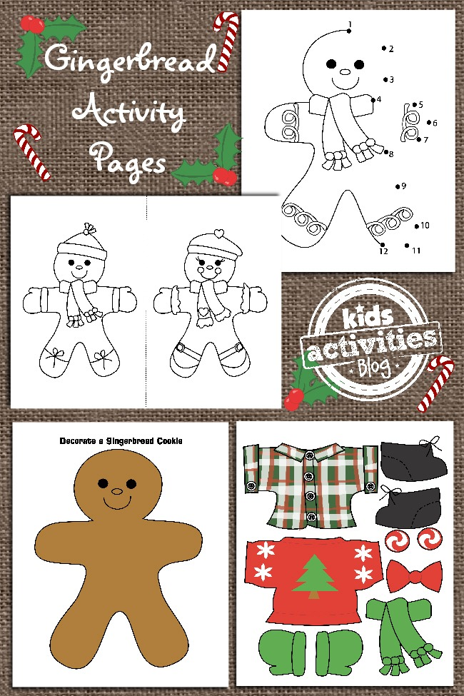 GINGERBREAD MAN PRINTABLES FOR KIDS Kids Activities