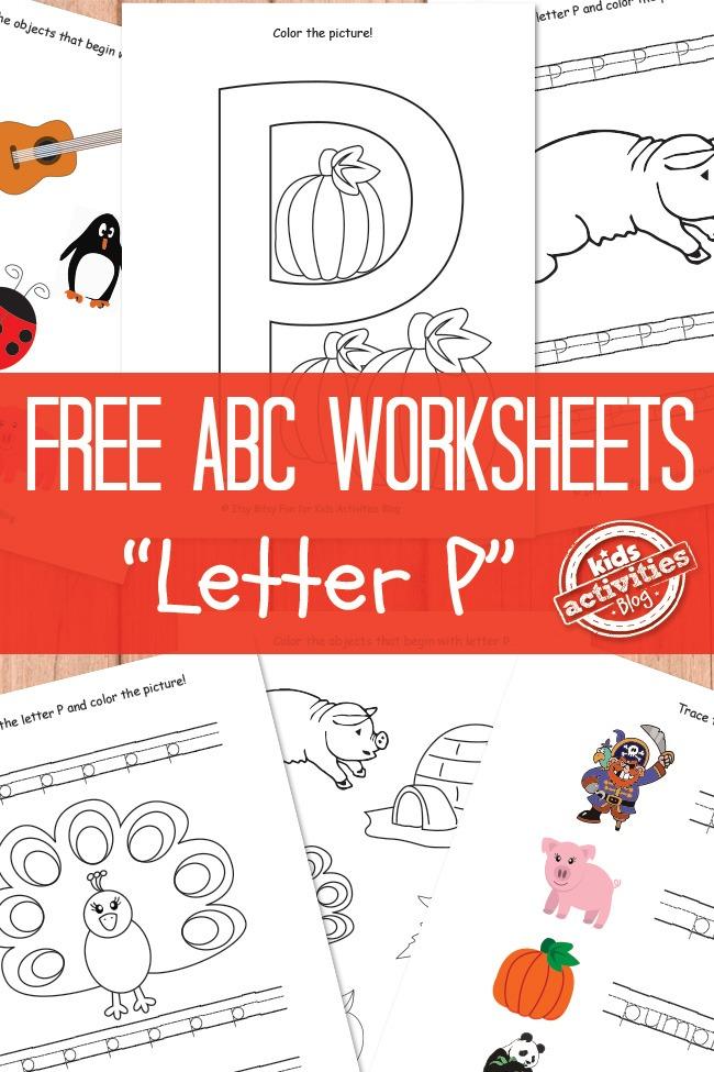letter p worksheets free kids printable kids activities. Black Bedroom Furniture Sets. Home Design Ideas