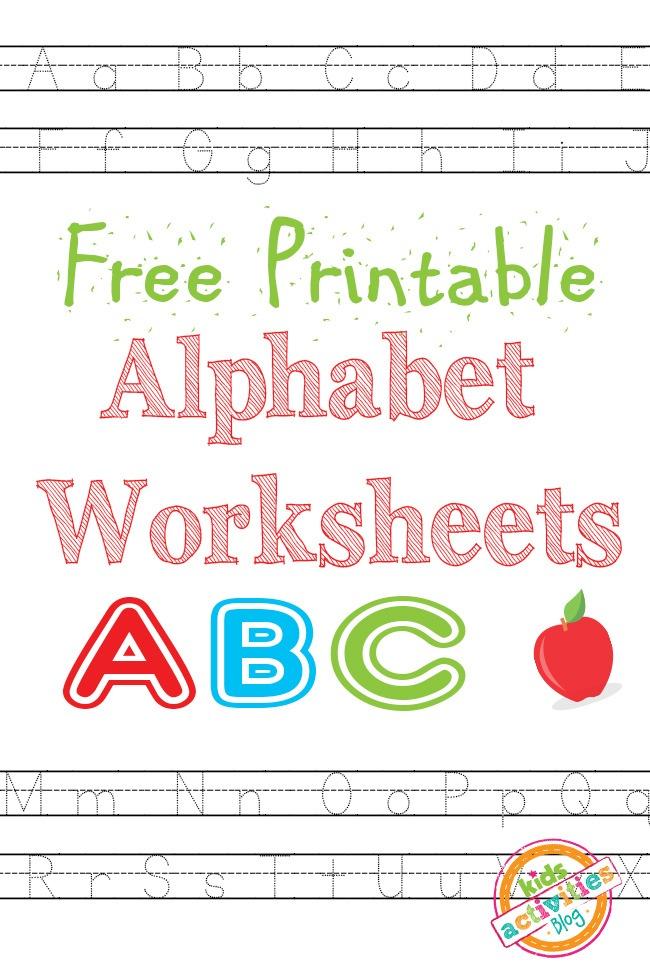 ALPHABET WORKSHEETS FREE KIDS PRINTABLE - Kids Activities