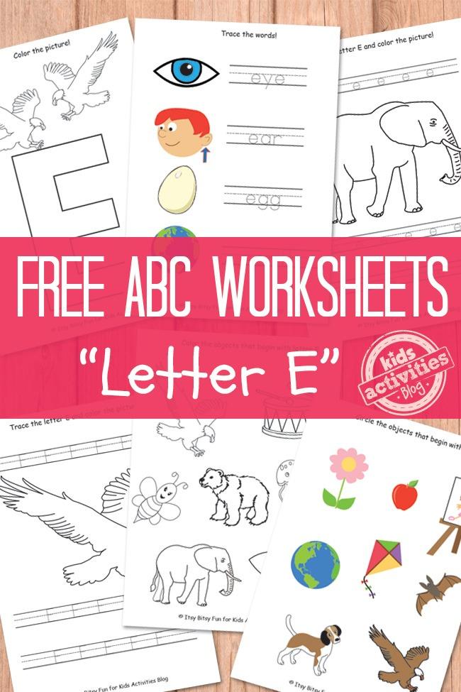 Letter E Worksheets Free Kids Printable Kids Activities