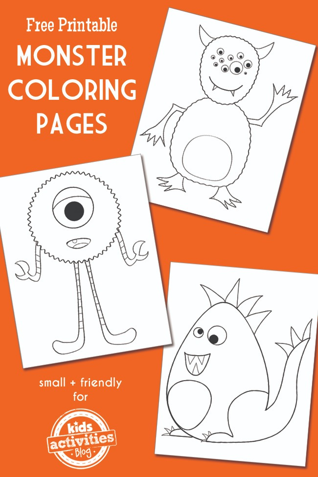 Monster Coloring Pages Kids Activities
