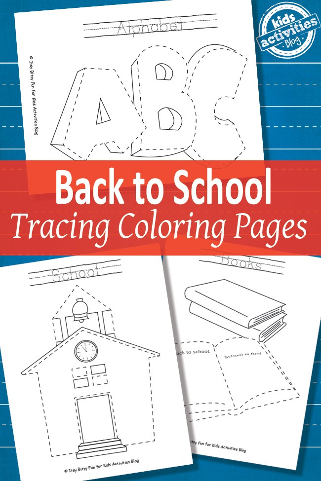 BACK TO SCHOOL TRACING COLORING