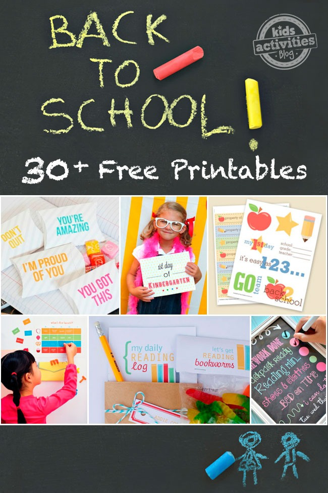 OVER 30 GREAT BACK TO SCHOOL FREE PRINTABLES AND COUNTING - Kids Activities