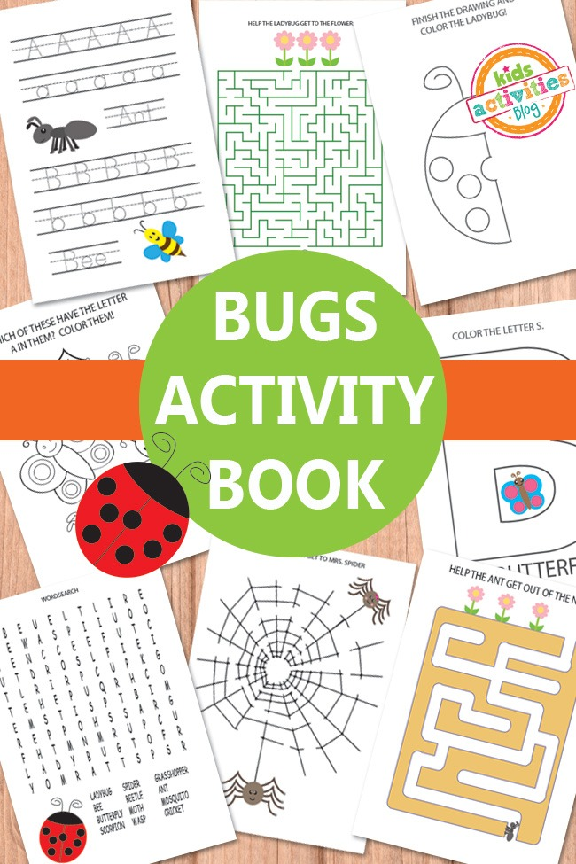 BUGS ACTIVITY SHEETS FREE KIDS