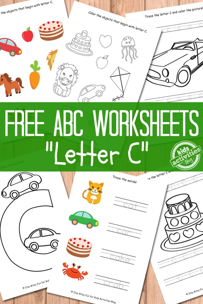 Letter C Worksheets Free Kids Printables