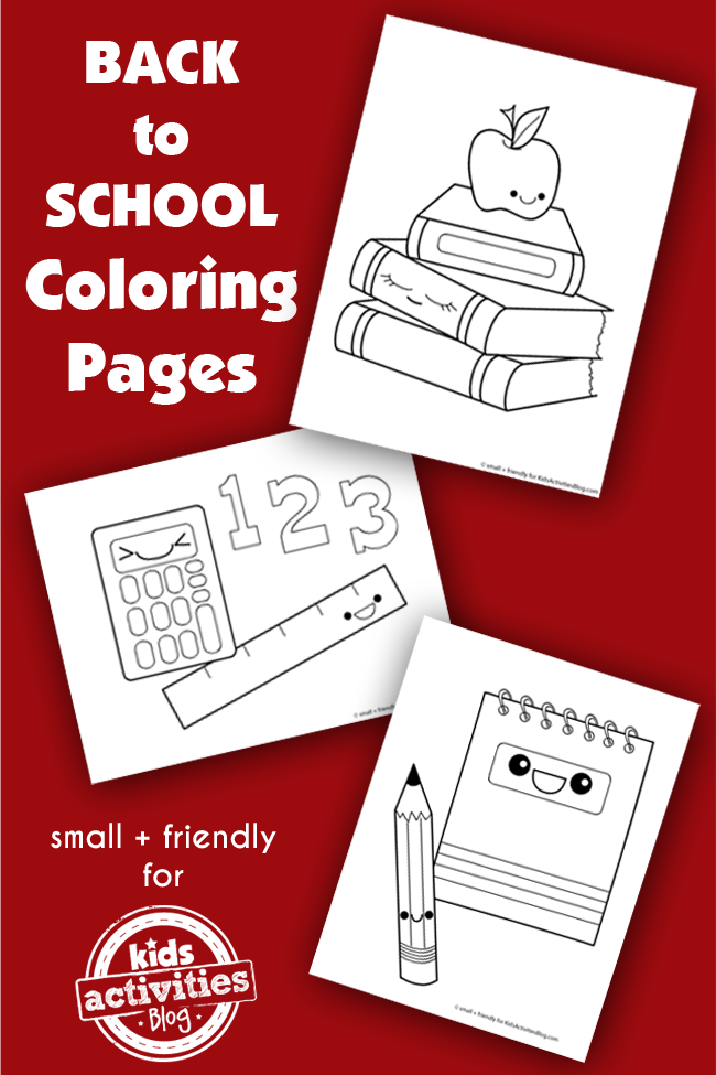 BACK TO SCHOOL COLORING PAGES SILLY