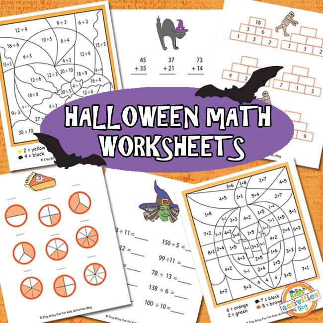HALLOWEEN MATH WORKSHEETS FREE KIDS PRINTABLE Kids Activities – Halloween Math Worksheet