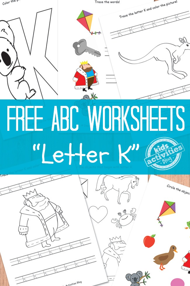 letter k worksheets free kids printable kids activities. Black Bedroom Furniture Sets. Home Design Ideas