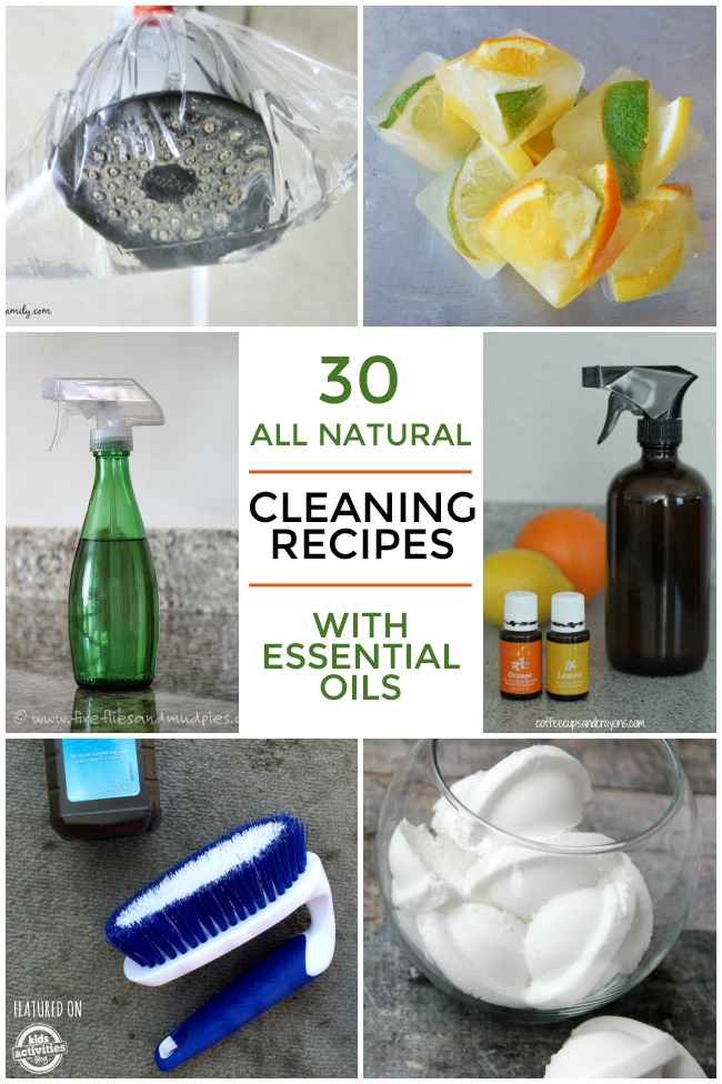 30 Natural Cleaning Recipes Using Essential Oils Kids