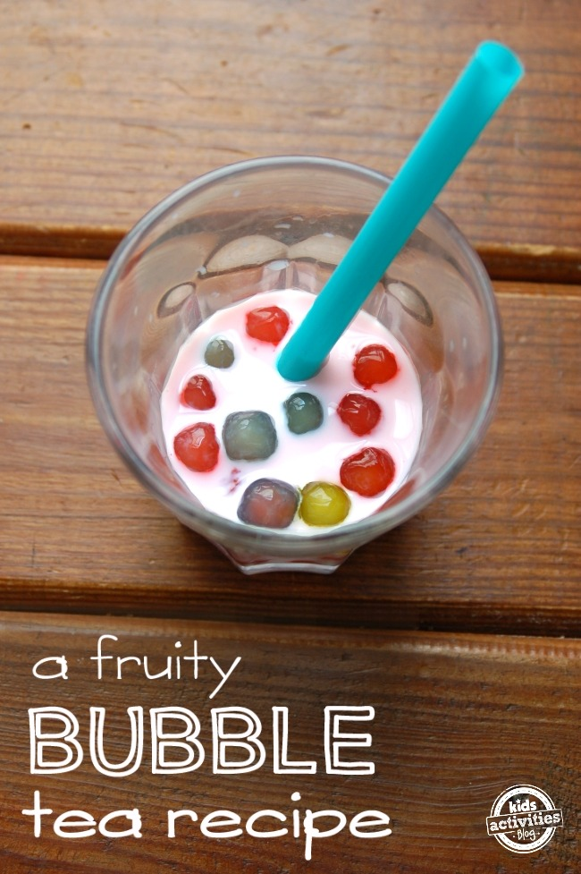 FRUITY BUBBLE TEA – FOR PLAY AND DRINKING - Kids Activities