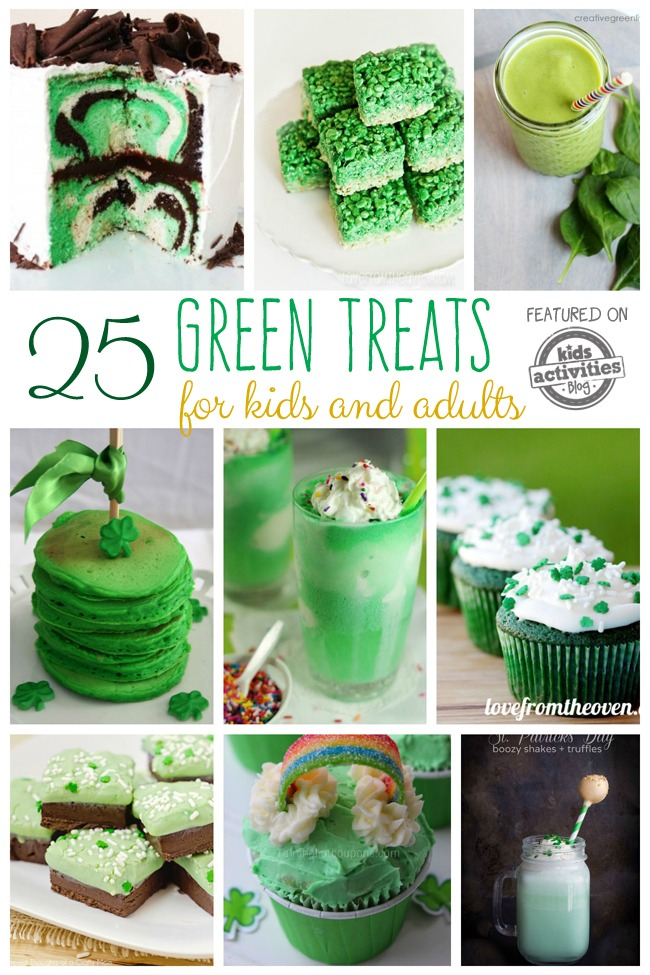 25 GREEN FOOD IDEAS: TREATS FOR KIDS AND ADULTS - Kids Activities