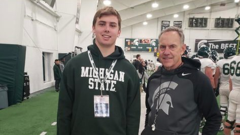 21 WI DE HAYDEN NELSON TALKS MICHIGAN STATE SPARTAN FOOTBALL RECRUITING!