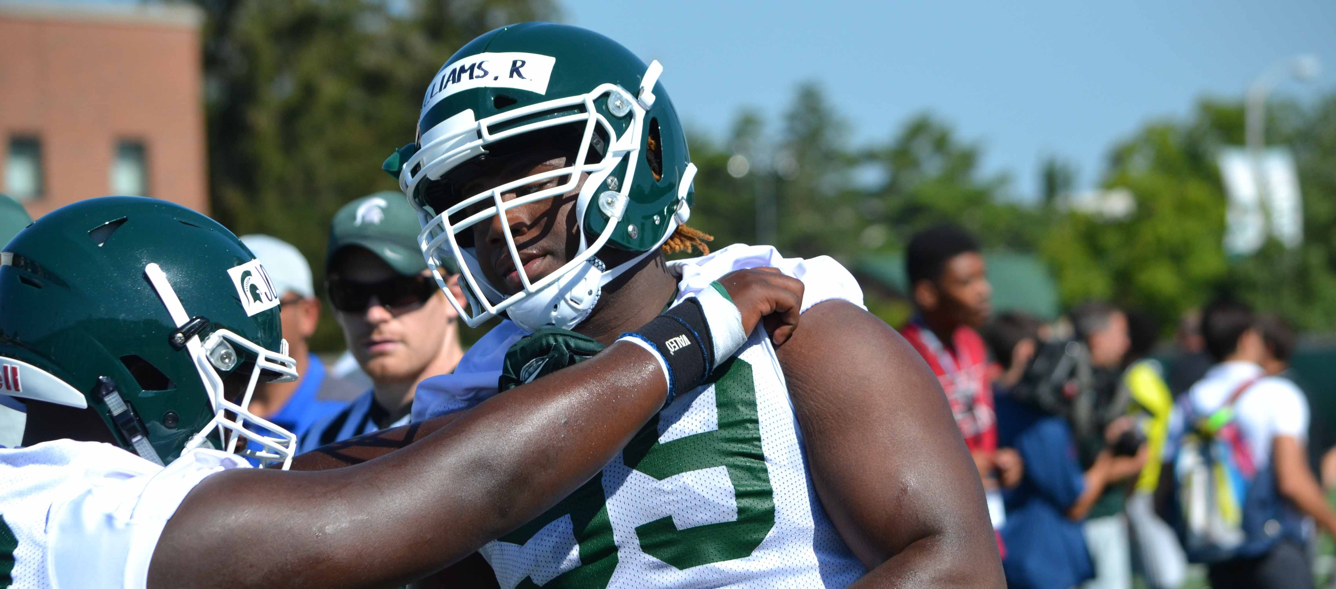 MICHIGAN STATE FOOTBALL RAEQUAN WILLIAMS ON THE SPARTAN #1 DEFENSE & IMPROVING