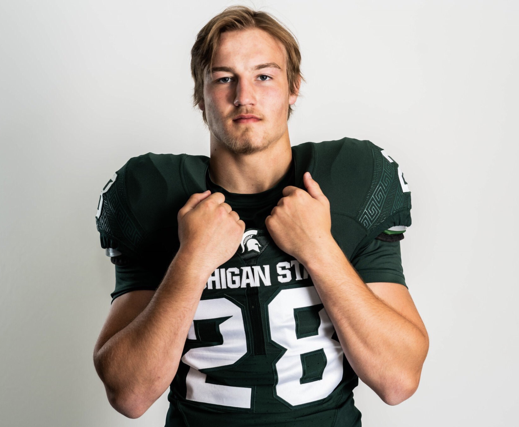 '20 Michigan State Commit Cal Haladay (LB) Highlights and Evaluation