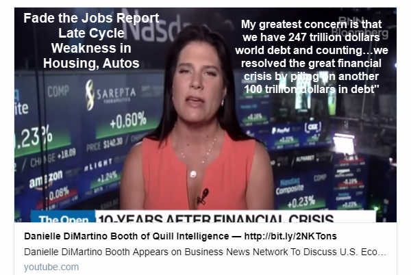 """""""Fade the Jobs Report, We are Very Late Cycle: Danielle DiMartino Booth"""