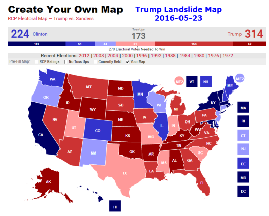 Grim Election Map For Trump Fox Analyst Vs Rcp Vs Mish Mish Talk - Us-map-popular-vote-2016