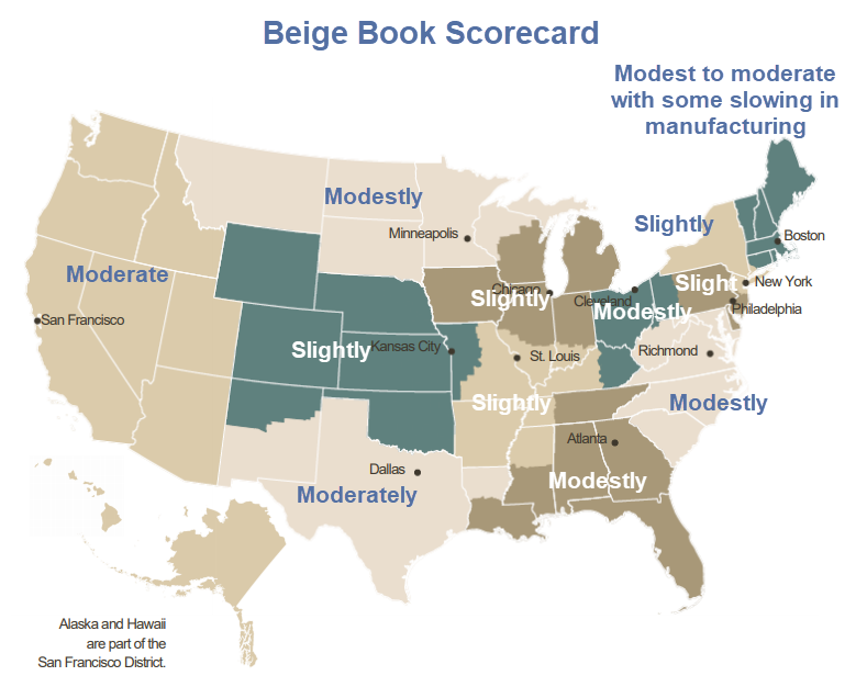 Beige Book Drivel: Slight to Moderate Growth