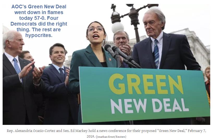 Hypocrite Democrat Senators Refuse To Back Aoc S Green New