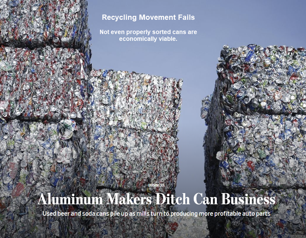 Recycling Movement Fails: China Doesn't Want US Garbage, Not Profitable Here