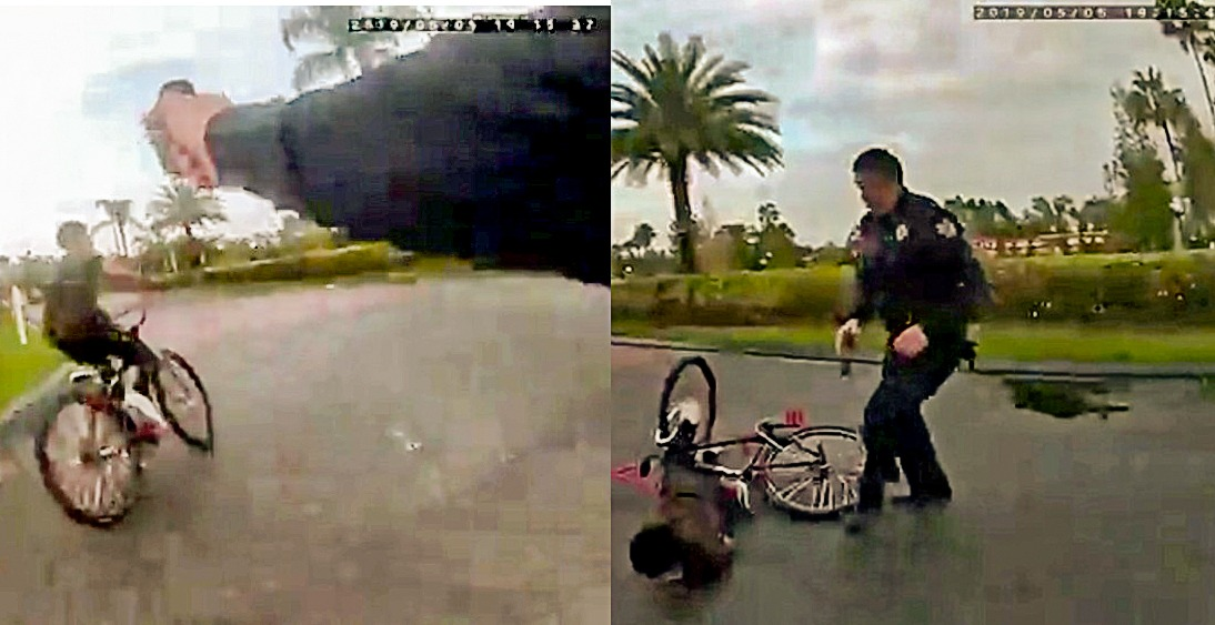 WATCH: Florida Cop Tasers Teen on Bicycle who had Popped Wheelie