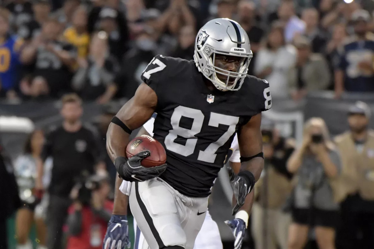 f44d3ca8e Jared Cook Says Goodbye to Raiders on IG. Oakland Raiders logo