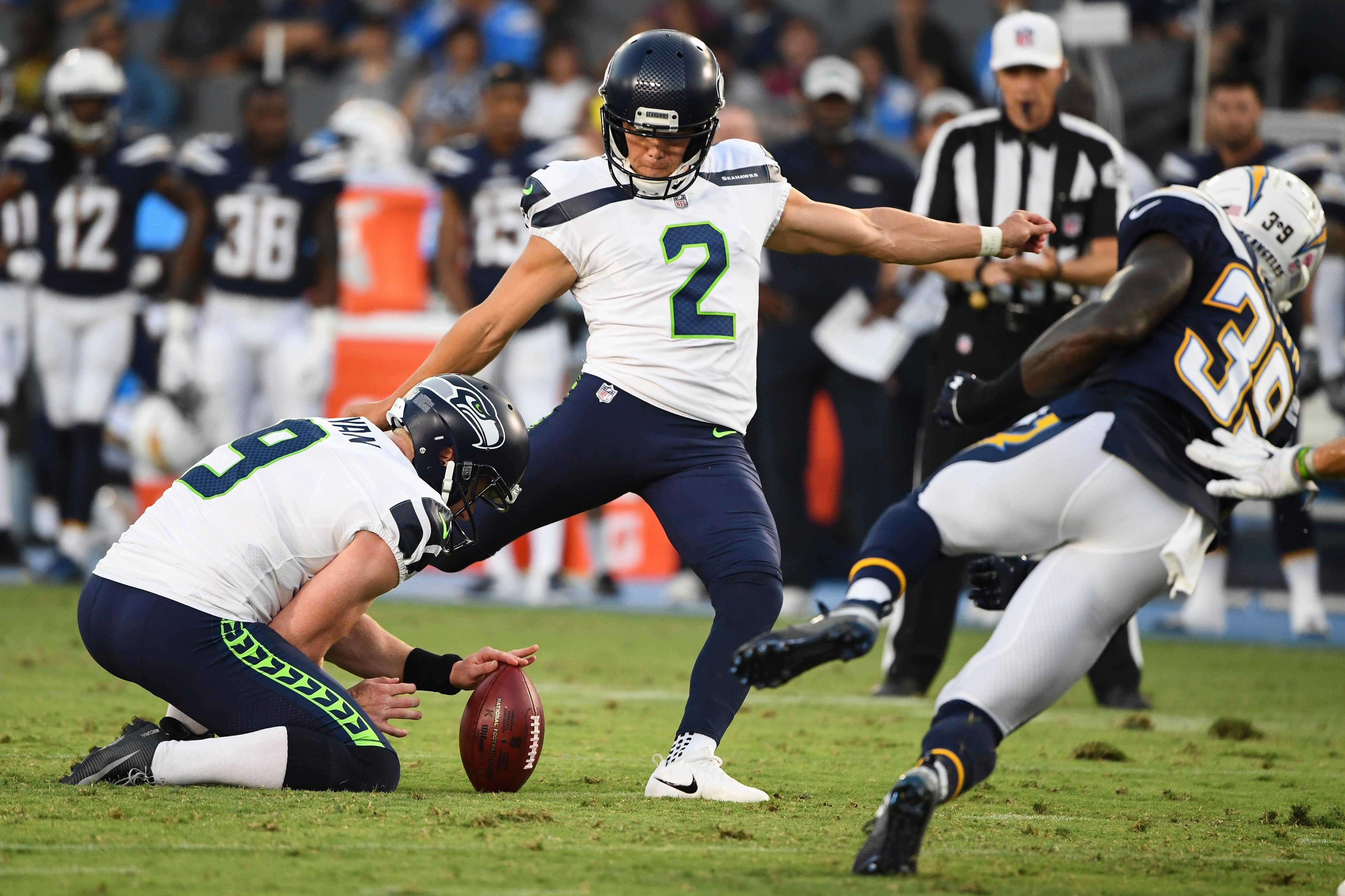 Seahawks Specialists the Early Stars of Training Camp