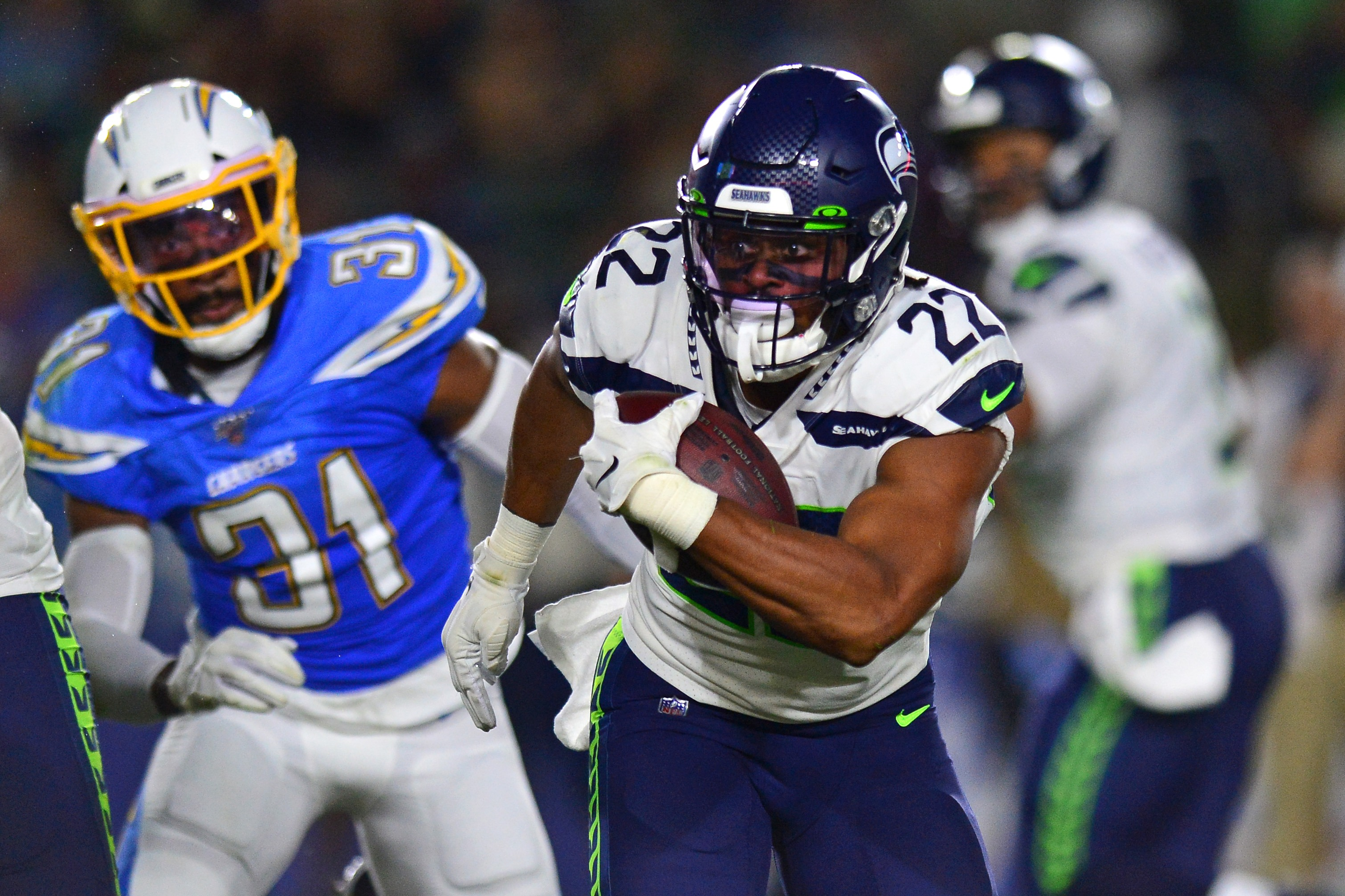 Seahawks Establish Run, Bulldoze Chargers in Exhibition Victory
